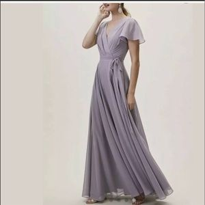 BHLDN Long Wrap Dress